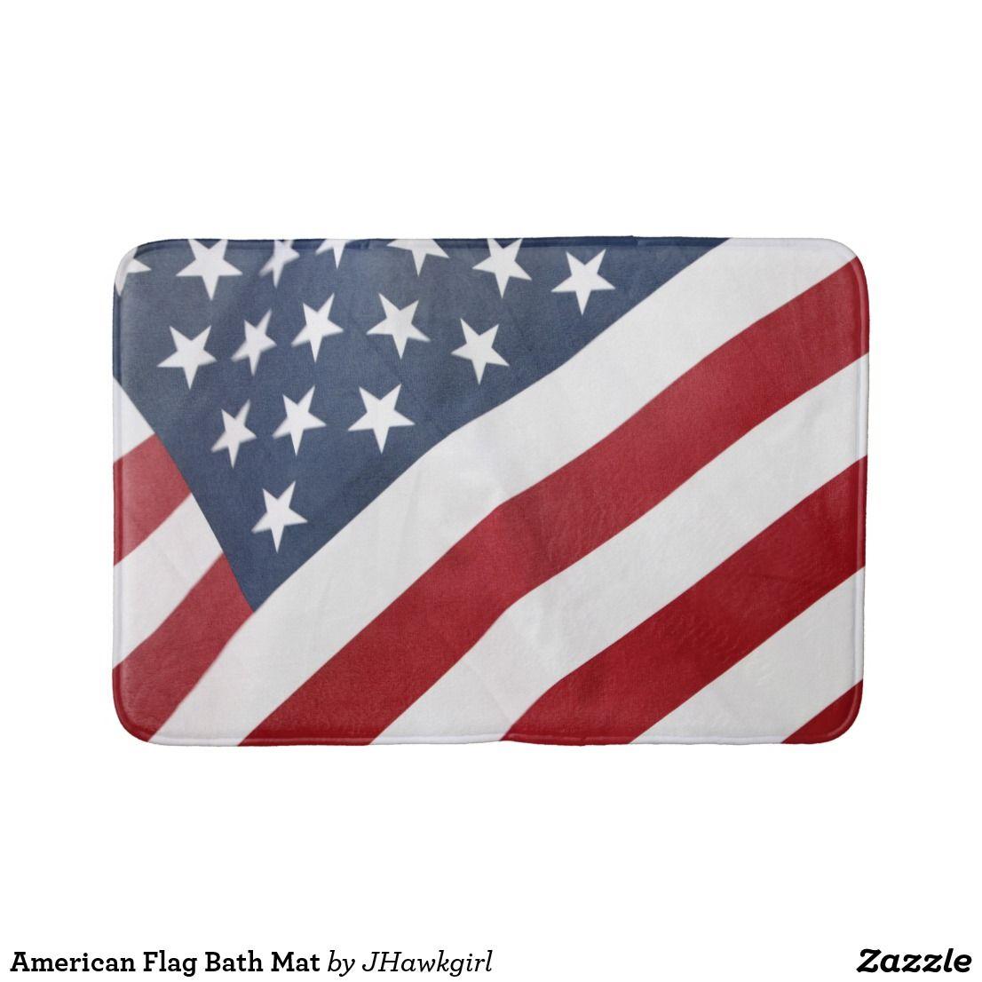 American Flag Bath Mat Zazzle Com American Flag Flag Patriotic Holidays