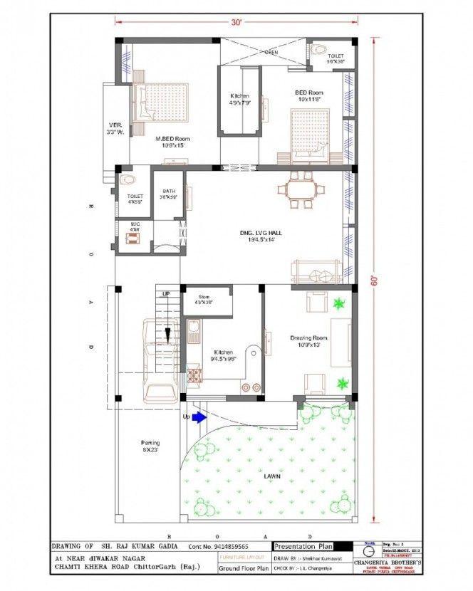 30 X 60 House Plans Modern Architecture Center