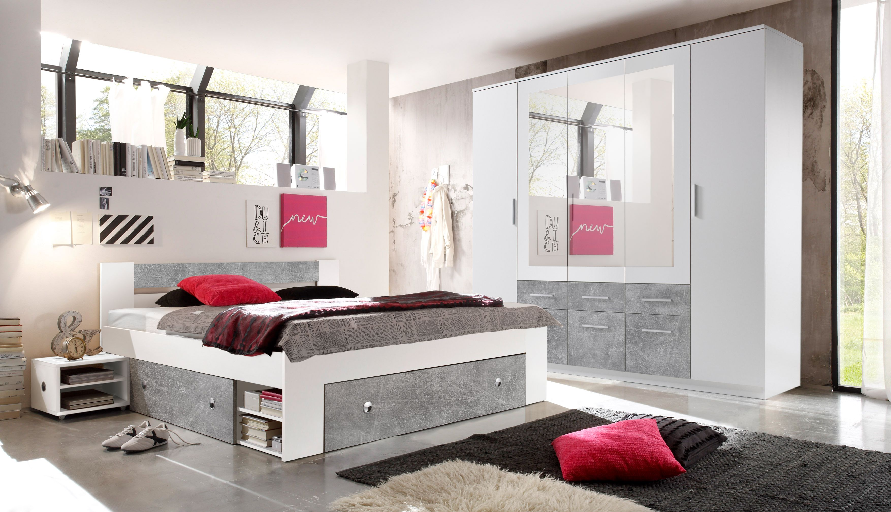 Schlafzimmer Komplett Set 4 Tlg Stefan Bett 180 Schlafzimmer