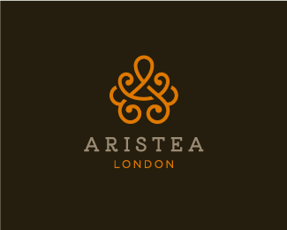 "ARISTEA Logo design - The logo fits for the businesses which names starts with the letter ""A"". Pattern used is reminiscent of tea's Asian heritage. Communicates values : Elegant, Feminine, Organic, Noble, Luxury, Chic, Exclusive. Expensive, Timeless. Price $1429.00"
