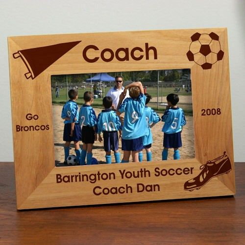 Laser Engraved Soccer Coach Wood Picture Frames. Our Personalized ...
