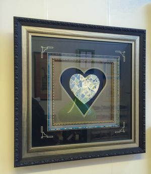Ap Designs Framing Custom Made In New Zealand A One Off Mosaic Heart Www Apdesigns Co Nz Customframi Frame Design Picture Frame Store Custom Framing