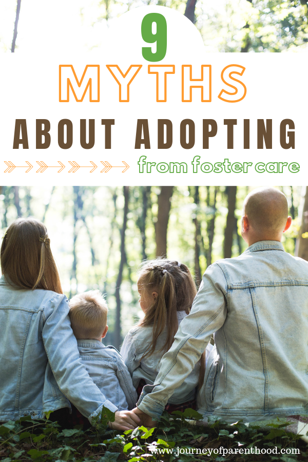 9 Myths About Adopting from Foster Care - What You Need to Know About Fostering to Adopt and Why Becoming Foster Parents Shouldn't Be Taken Off Your List of Options for Adoption. #fostercareadoption #adoption #fostercare