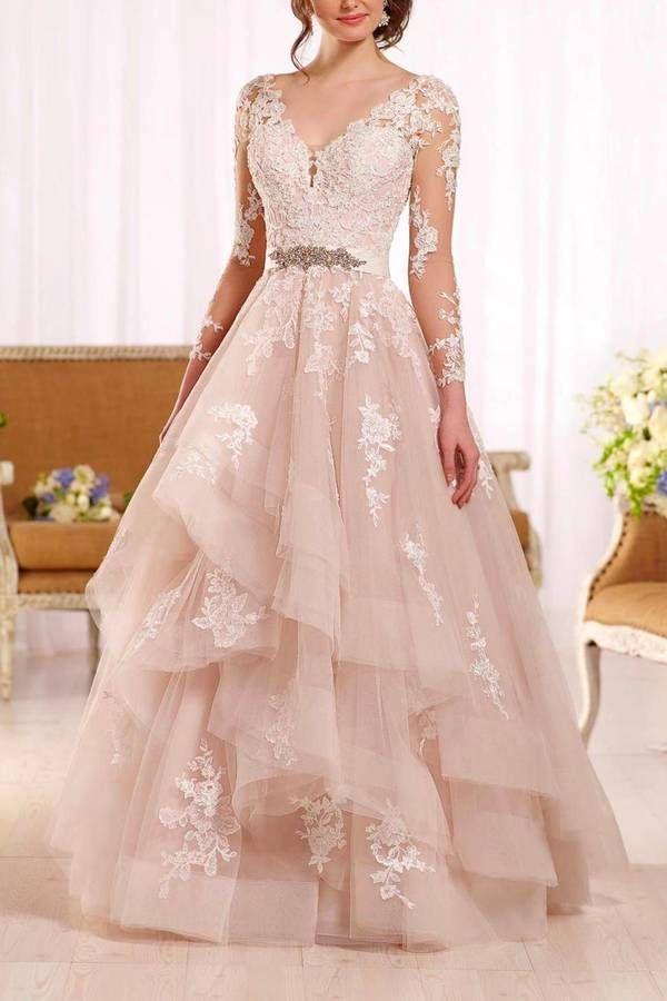 Essense of Australia Long Sleeve Gown | Wedding & Bridesmaid ...