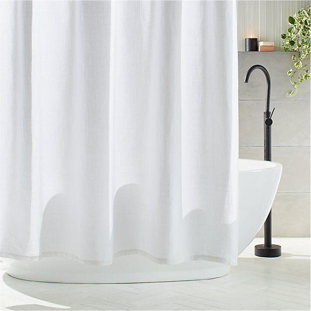 Ezra White Shower Curtain In 2020 White Shower Curtain White