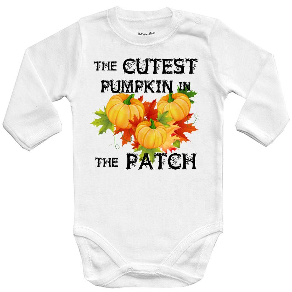 87484eaf9705 Excited to share this item from my #etsy shop: The cutest pumpkin in the patch  2 Halloween costume CPK Baby Vests bodysuit Funny Baby Child Piece boy ...