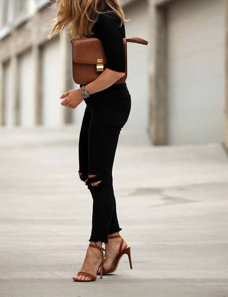 04f770b71938 Touch of Chestnut Black Ripped Jeans Outfit