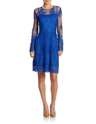 Illusion Embroidered Lace Dress Lord And Taylor Dresses