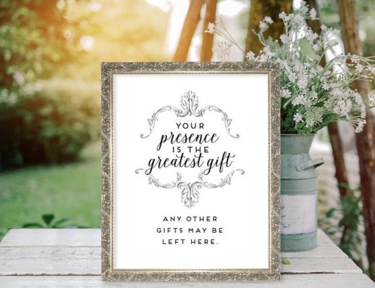 Who Do You Give Gifts To At Your Wedding: Your Presence Is The Greatest Gift All Other Gifts May Be