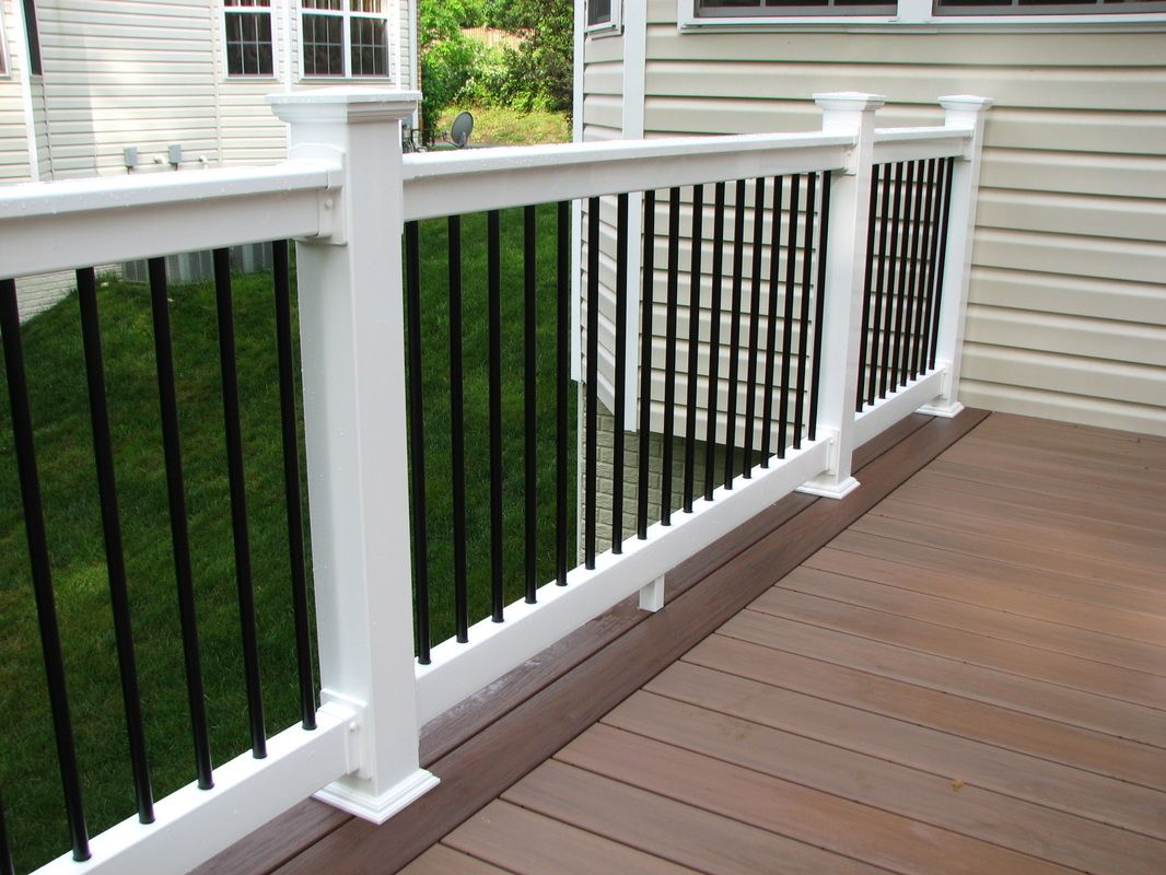 Vertical Cable Railing With Vinyl Posts Yahoo Image