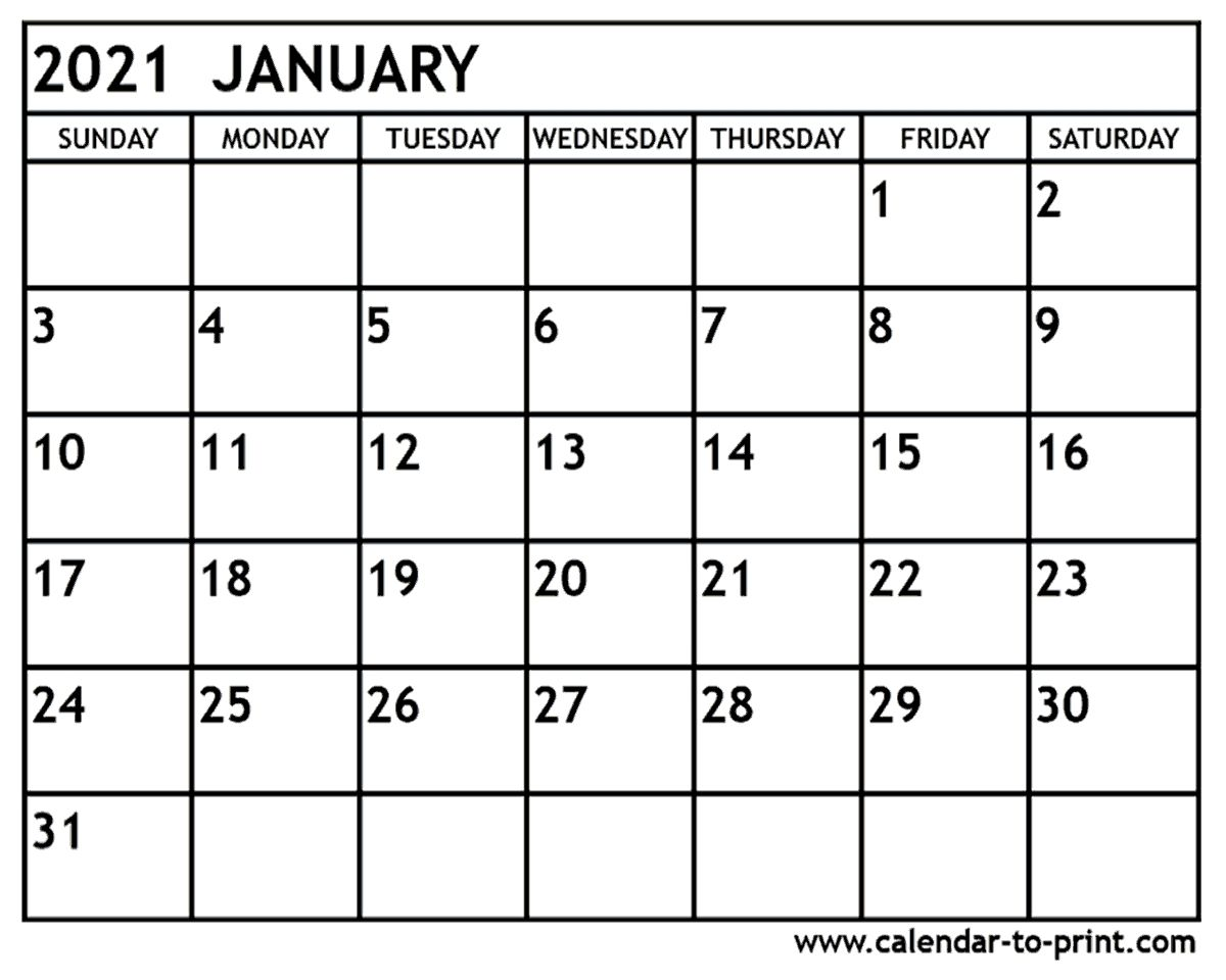 January 2021 Calendar - Free Download Printable Calendar ...