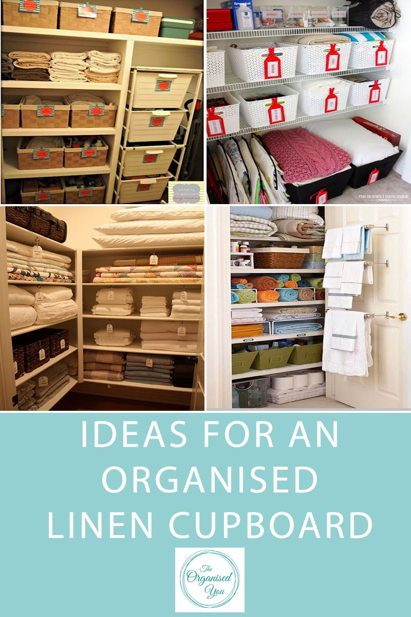 Ideas for an organised linen cupboard Blog   Home Organisation The ...