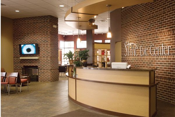 Front desk   Optometry office, Office counter, Office design