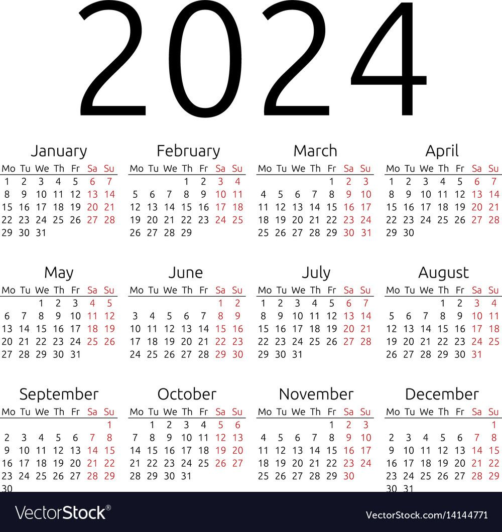 Yearly Calendar 2024 Google Search Vector Free Free Vector Images Calendar