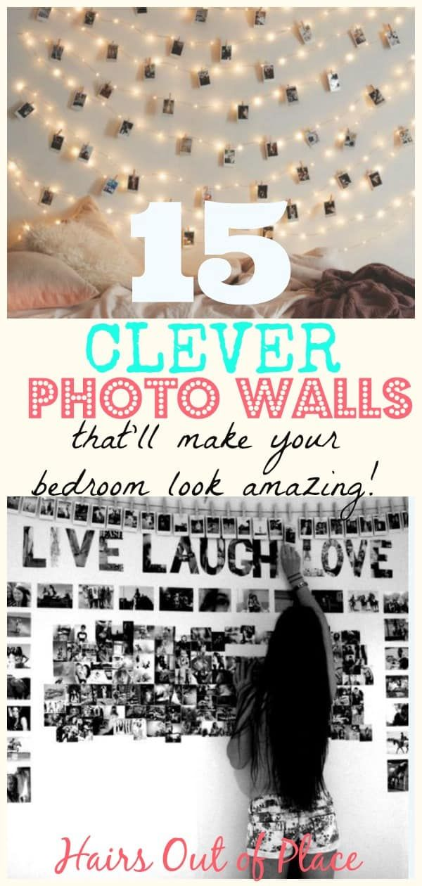 15 Photo Wall Ideas That Make Creative Photo Displays #picturewallideas