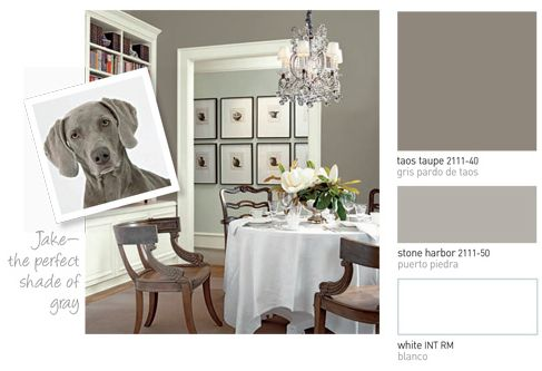Dark Color On Walls Is Benjamin Moore Taos Taupe Then Stone Harber Below White Love It And Goes Great With The Green In Hall