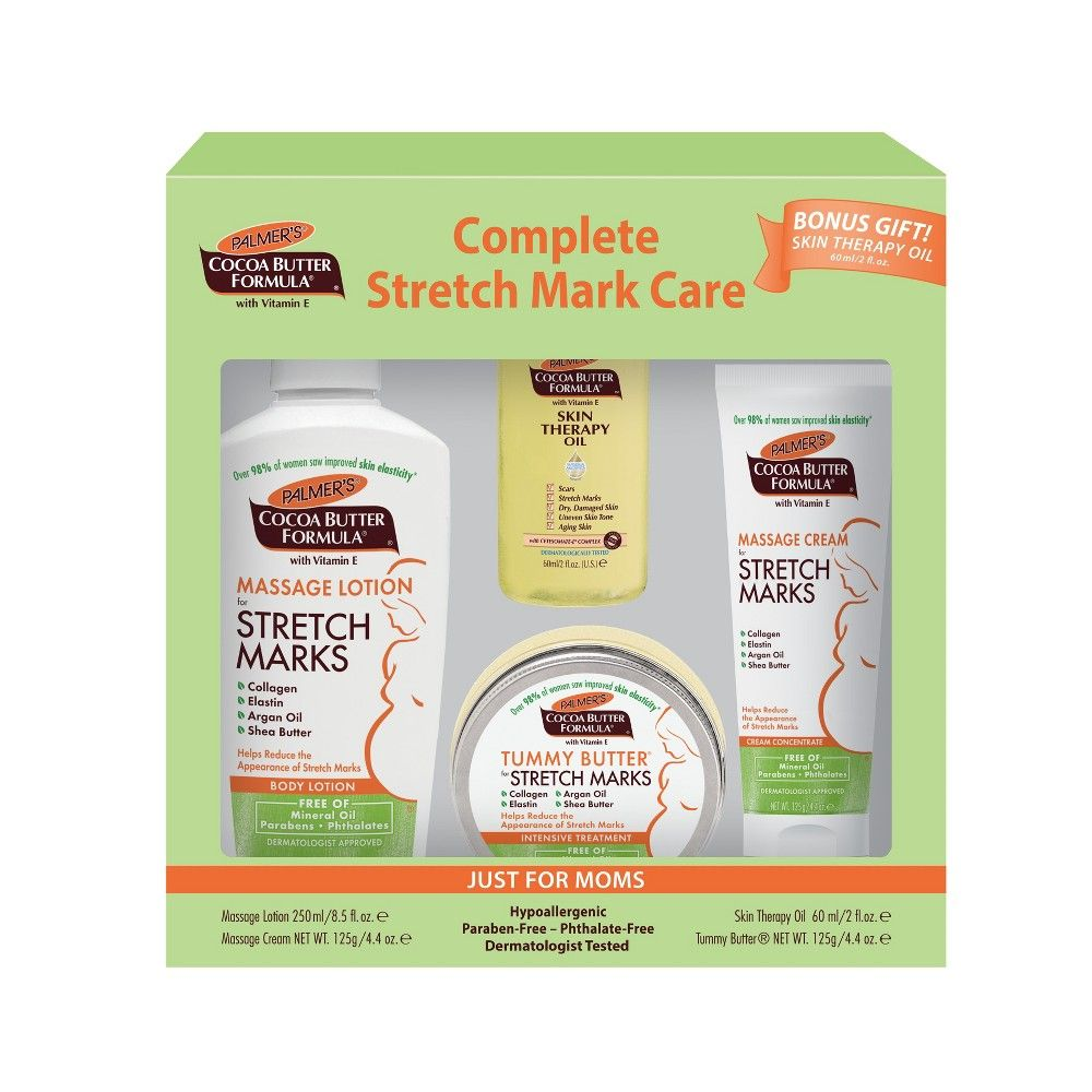Palmers Cocoa Butter Formula Complete Stretch Mark Care Kit 4ct