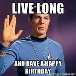 Spock Happy Birthday Star Trek Christmas Funny Christmas Pictures Star Trek Birthday