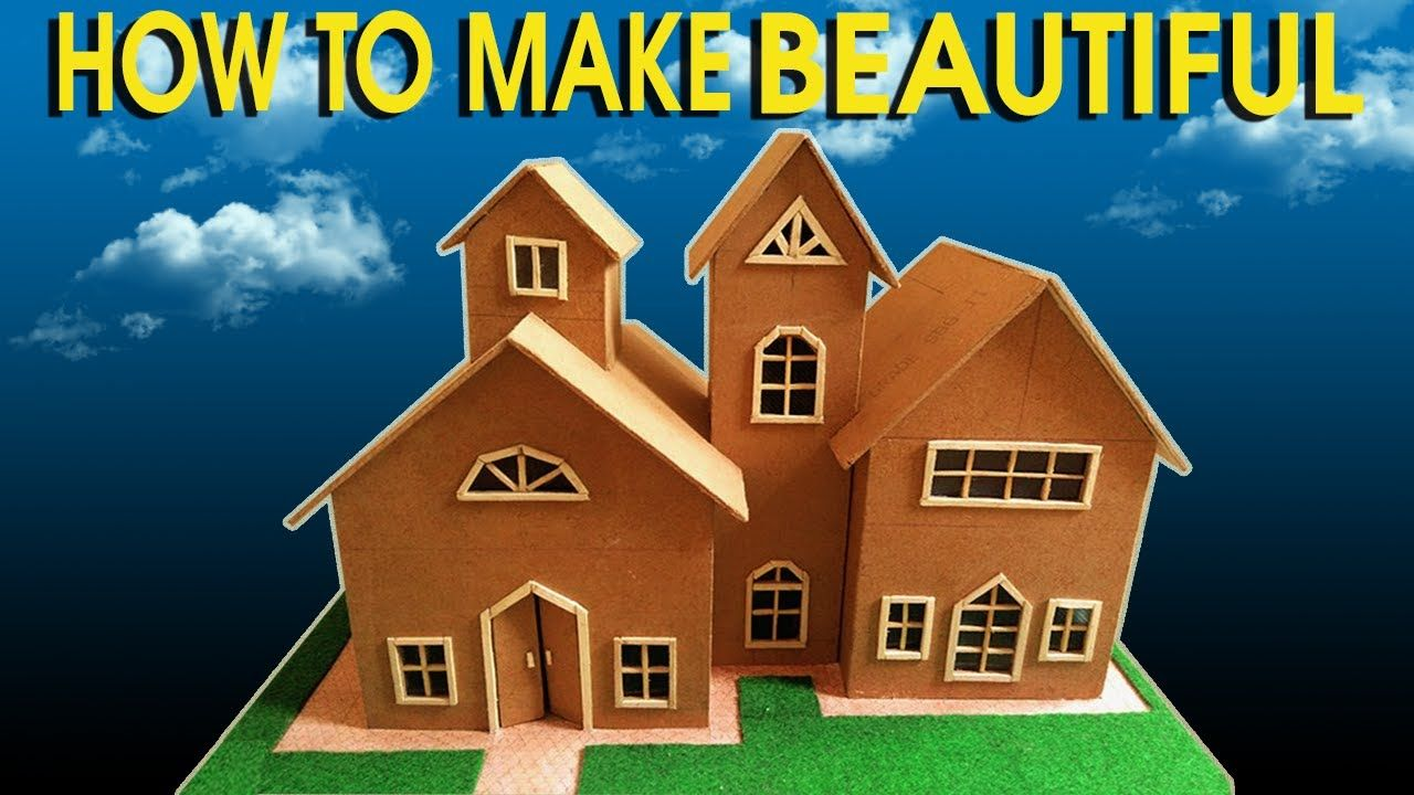 HOW TO MAKE 3D CARDBOARD HOUSE || BEAUTIFUL SMALL HOUSE