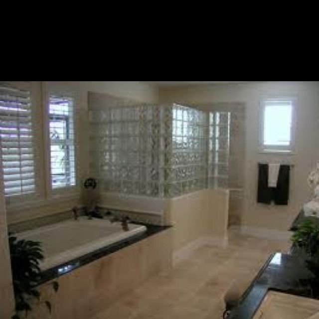 Glass blocks (With images) | Bathroom remodel plans, Small ...