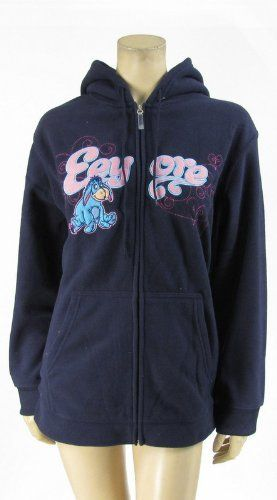 21affb95326 Disney Eeyore Hoodie Zip Up Jacket Fleece Plus Size Navy Blue (1X) Disney