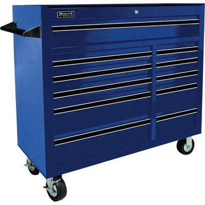 11 Drawer Rolling Tool Cabinet Blue 42in