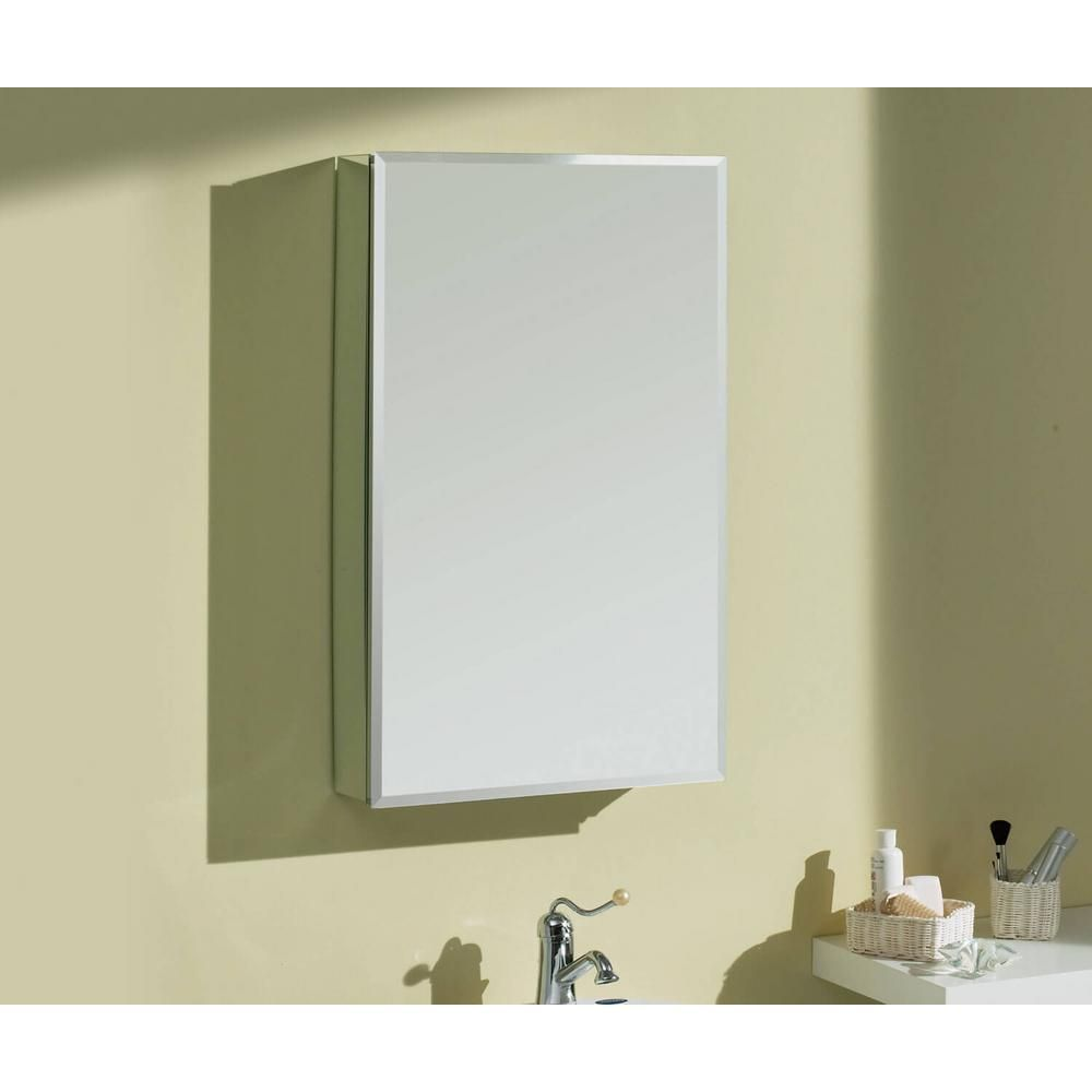 Maax Sv1230 12 In X 30 In Recessed Or Surface Mount Medicine Cabinet In Single View Beveled Mirror 12652 In 2020 Beveled Mirror Surface Mount Medicine Cabinet Mirror