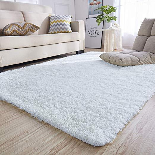 Amazon Com Junovo Rectangle Ultra Soft Area Rugs Fluffy Carpets