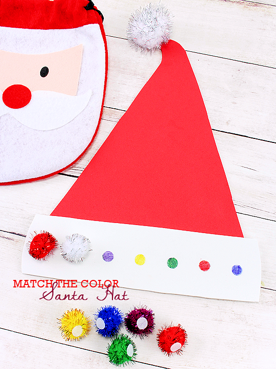 Color Match Santa Hat Christmas Ideas Pinterest Navidad