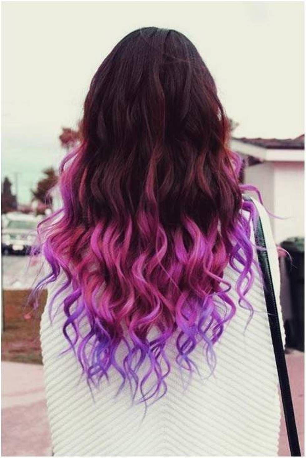 > cute colorful hair