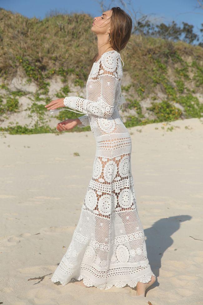 36d07a7168dbd robe longue crochet MISS JUNE | Hippie ☀️ | Robe tricot, Robe ...