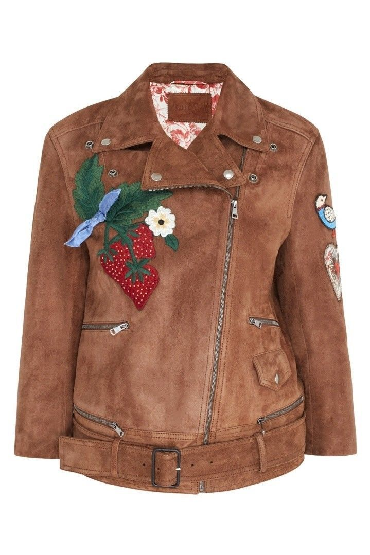 645a507de Gucci Patches Embroidered Suede Jacket in 2019 | GUCCI | Suede ...