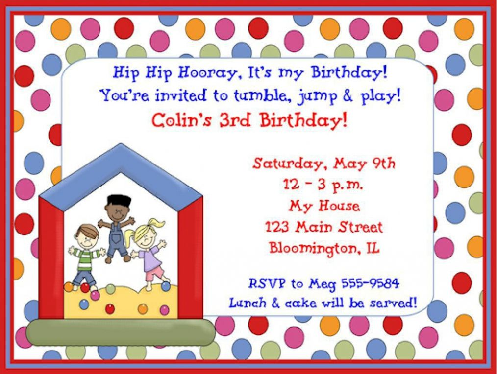 Children\'s Birthday Party Invitations as free party invitation ...
