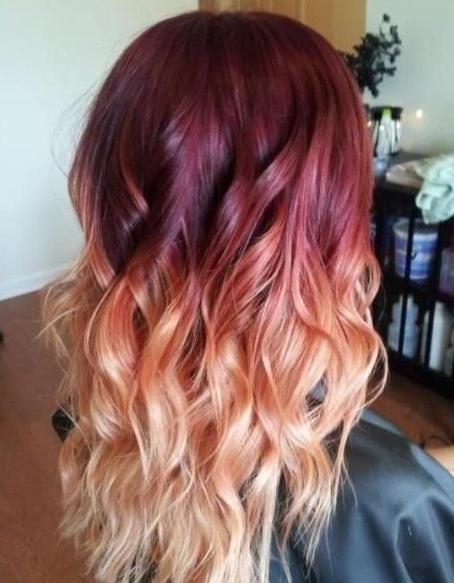 Hair Color Trends For 2021 Red Ombre Hairstyles Pretty Designs Ombre Hair Blonde Hair Styles Red Ombre Hair