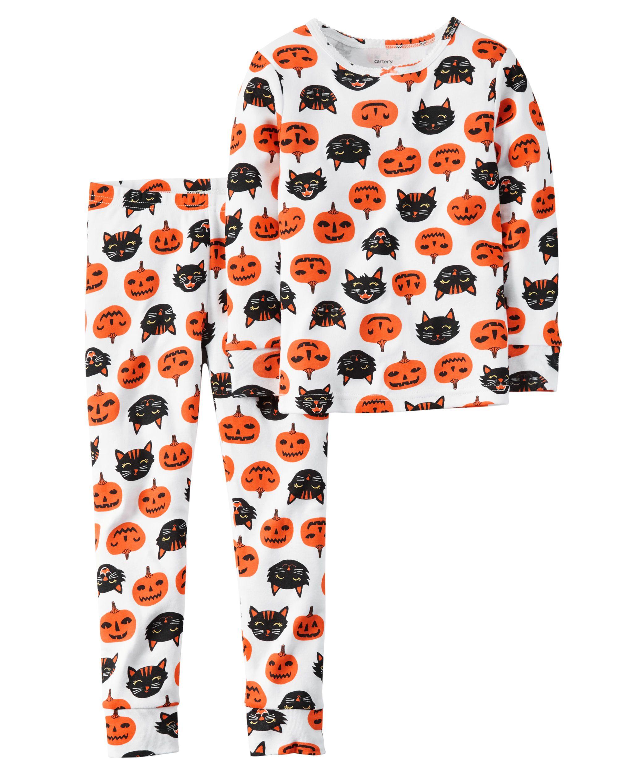toddler girl 2-piece snug fit cotton halloween pjs $12 | carters