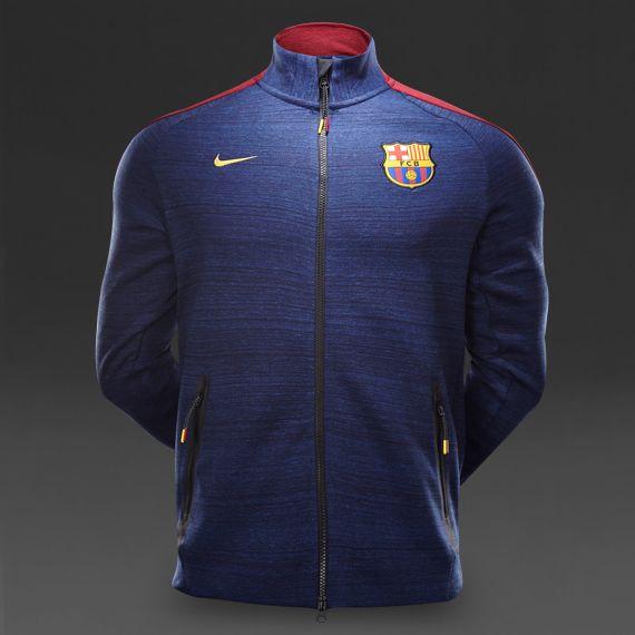 Nike FC Barcelona N98 Tech Track Jacket - Obsidian Heather