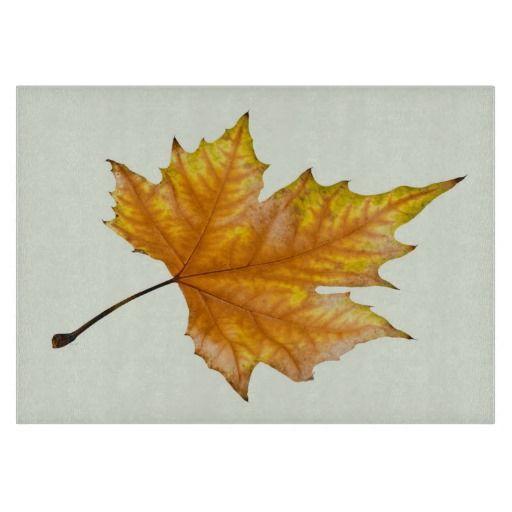 Autumn maple leaf cutting board