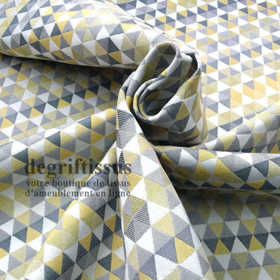 tissu d ameublement jacquard triangles