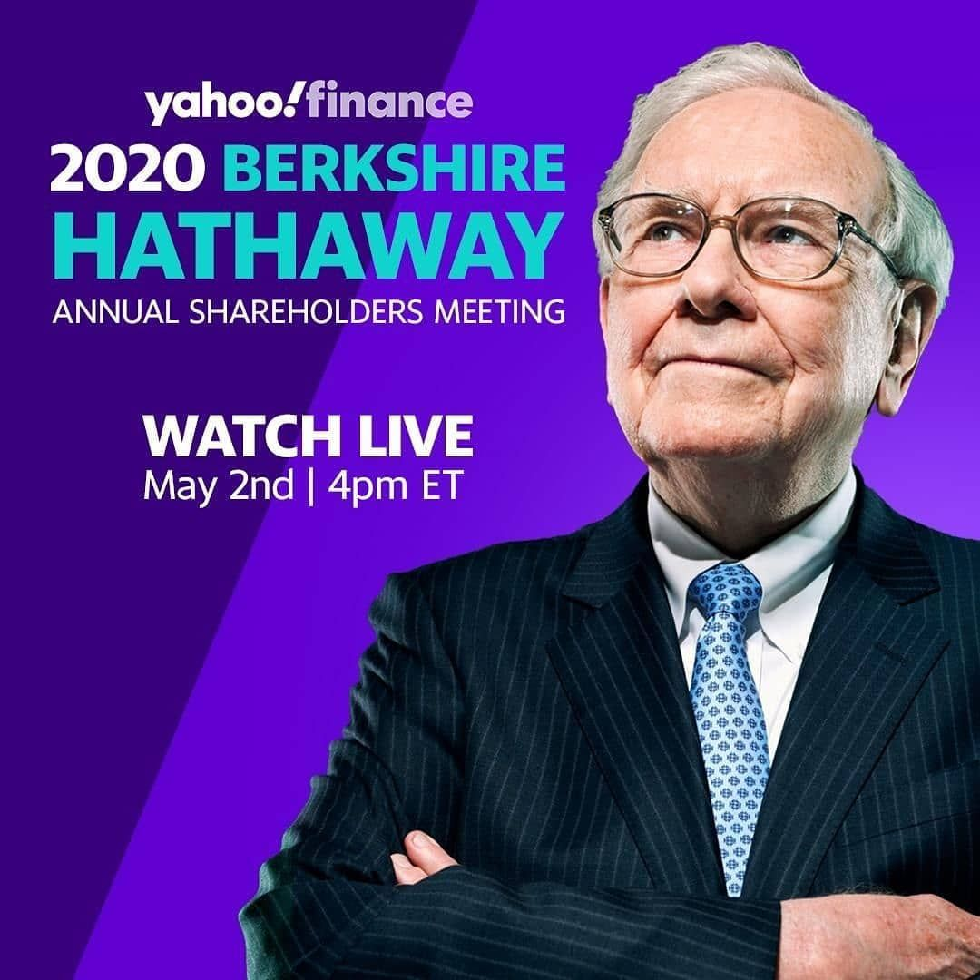 Live Today At 4 Pm Est Yahoo Finance Is The Exclusive Online Host Of The 2020 Berkshire Hathaway Annual Shareholders Meeting Tune I In 2020 Finance Berkshire Webinar