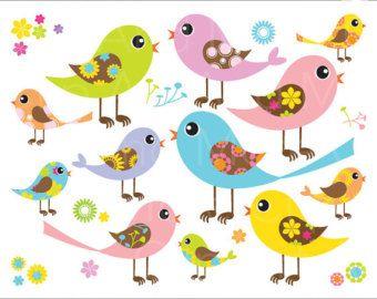 Digital Clipart The Best Nest Cute Birds Clip Art Png Files Etsy Digital Clip Art Birds Clip Art Cute Birds