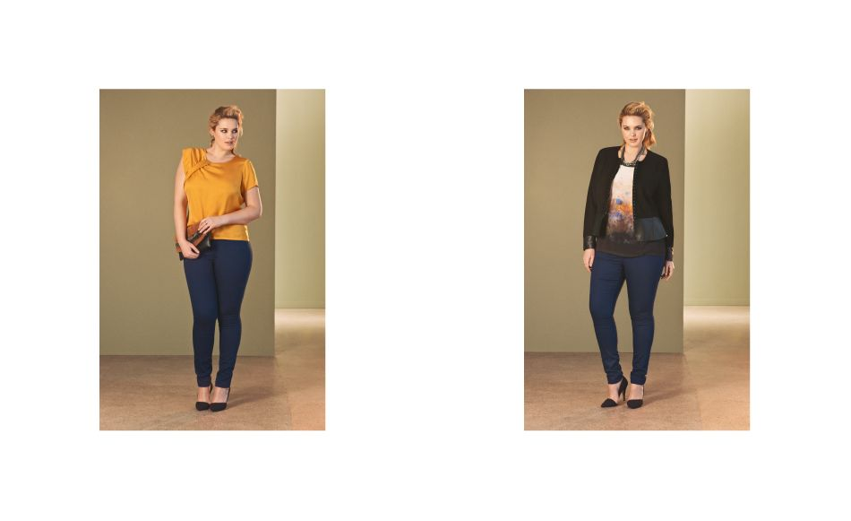 From Junarose Look Book- fashion for curvy girls.  I especially love the yelloy top and jeans look!
