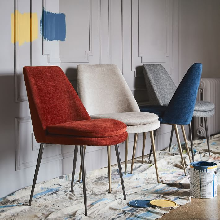 Fantastic West Elm Finley Low Back Upholstered Dining Chair Student Beatyapartments Chair Design Images Beatyapartmentscom
