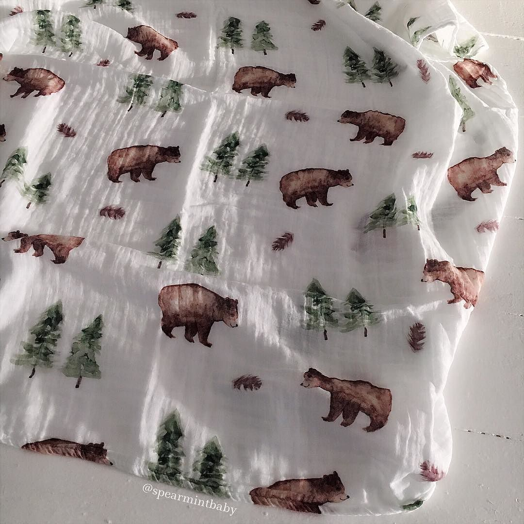 Forest Bear Muslin Is Back So Sweet For Your Autumn Babe Shop