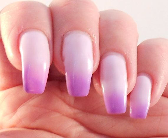 REALLY WANT  Wisteria pastel purple thermal cream nail polish by PromisePolish