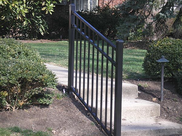 decorative aluminum railing. aluminum railings exterior  Decorative Aluminum Iron Handrails Cincinnati Northern KY EME