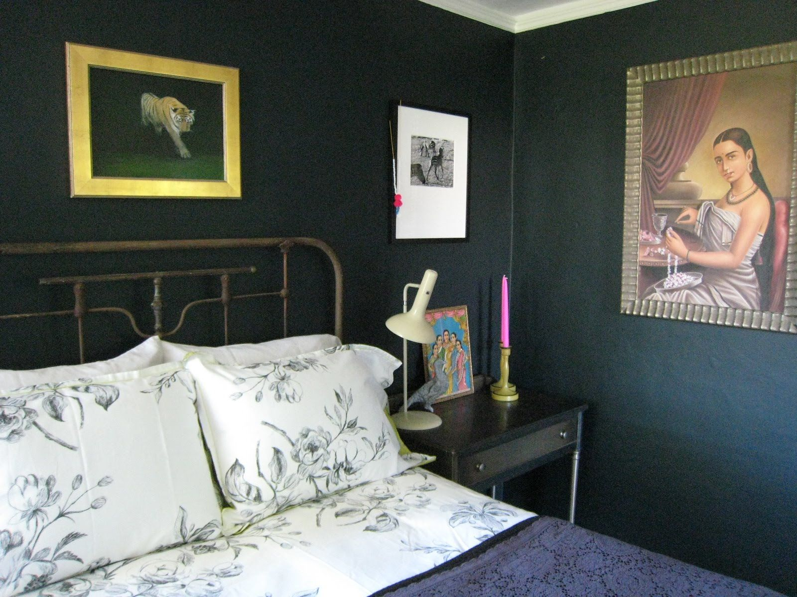 Dark blue and black bedroom - Farrow And Ball Inspiration Out Of Paper Farrow Ball Blue Black Style And