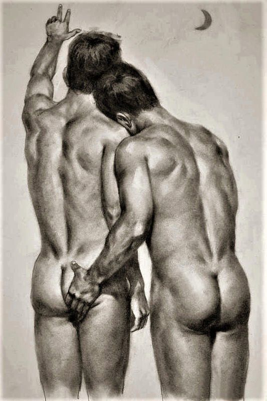 Drawing erotic male