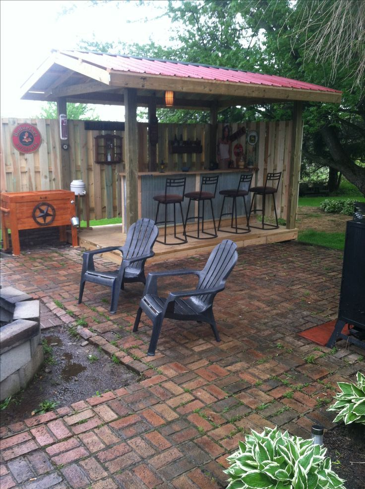 Hobohahn This Is A Nice Outdoor Bbq Bar Area Diy