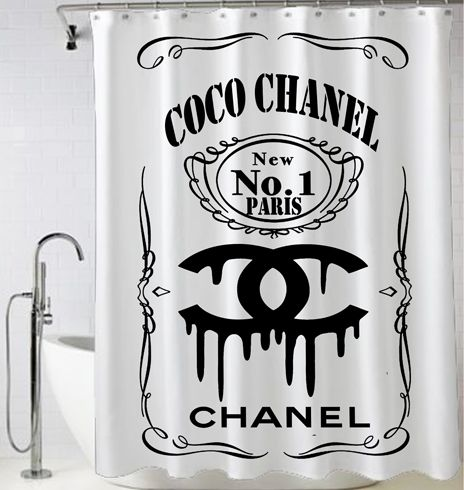New Coco Chanel Logo Shower Curtain Shower Curtain Cheap