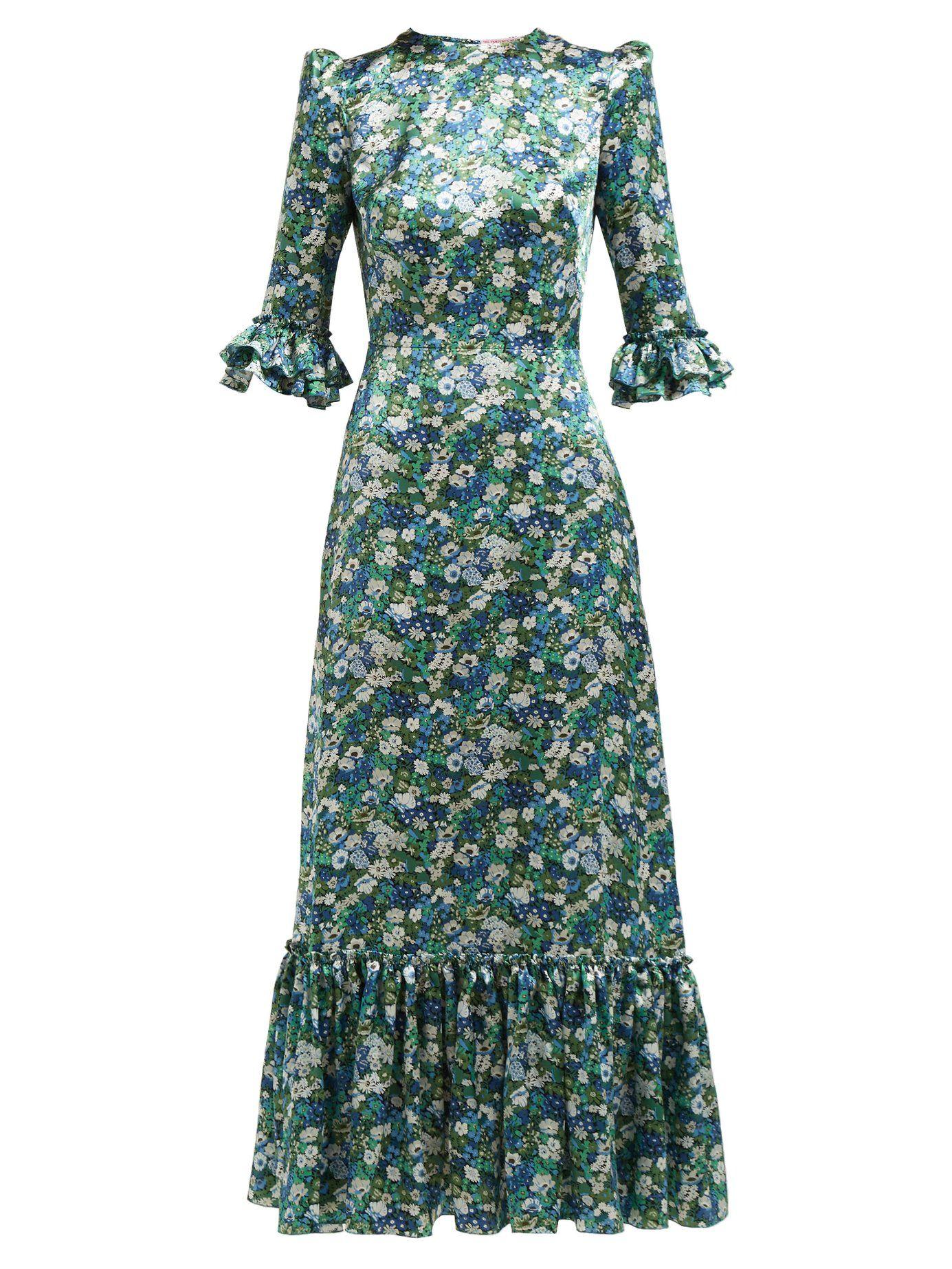 350c59215ded Festival floral-print silk dress